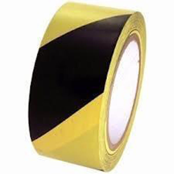 Tesa 60760 Vinyl Aisle Marking Tape Yellow/Black