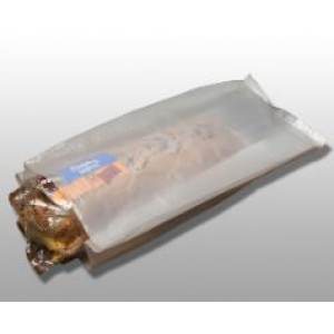 "White 1.25 Mil Take Out Bag 16 1/2"" x 4"" x 14"""