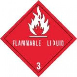 "4"" x 4"" ""Flammable Liquid"" - Labels & Ribbons The Packaging Group"