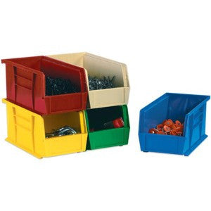 16 1/2 x 14 3/4 x 7 Yellow Stackable Bin