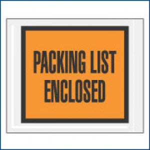 "4-1/2"" x 5-1/2"" ADM 52/PQ10 ""Packing List Enclosed"" Envelope - Packing List Envelopes The Packaging Group"
