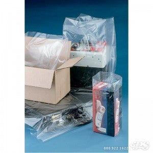 "8"" x 3"" x 20"" 1.5 Mil Gusseted Poly Bag - Poly Bags and Supplies The Packaging Group"