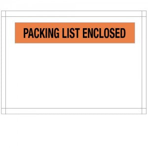 "7"" x 5-1/2"" Medium Packing List Enclosed Top Load Envelope"