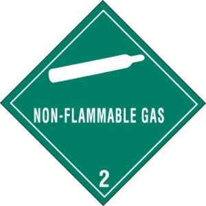 "4"" x 4"" - ""Non-Flammable Gas - 2"""