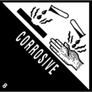 "4"" x 4"" ""Corrosive"" Label - Labels & Ribbons The Packaging Group"
