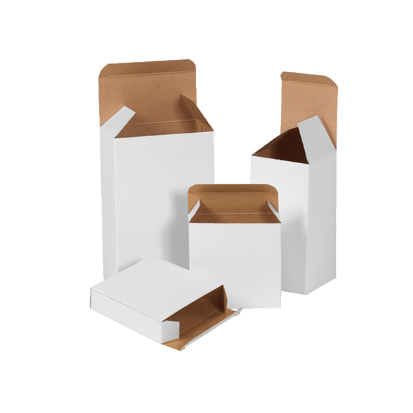 2 5/8 x 3/4 x 2 5/8 White Chip Carton