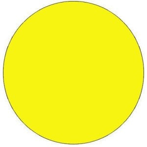 "1"" Fluorescent Yellow Inventory Circle"