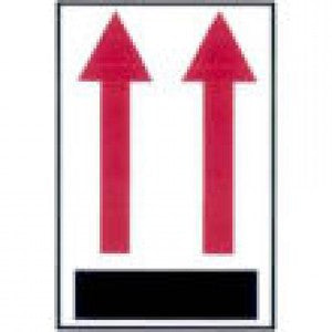 "4"" x 6"" ""Upward Arrows"" Label - Labels & Ribbons The Packaging Group"