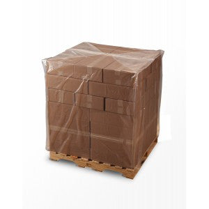 "32"" x 28"" x 72"" x .004 Gusseted Poly Bag - Pallet Covers The Packaging Group"