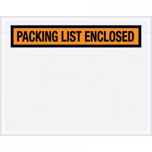 "7"" x 5-1/2"" ADM P19/PQ-19 ""Packing List Enclosed"" Envelope - Packing List Envelopes The Packaging Group"
