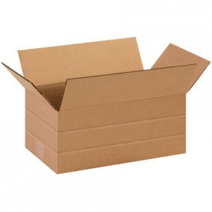 "14-1/2"" x 8-3/4"" x 6"" Multi-Depth Corrugated Boxes 25/PK"