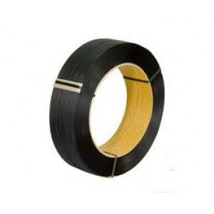 "Black Poly Strapping - 3/8"" x 16,000 HB612B 8x8"