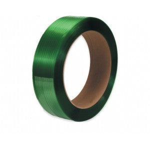 "Green Smooth Polyester Strap - 1/2"" x .027 x 6500 16x6"