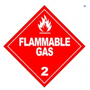 1 1/2 x 2 1/2 ORM-D-AIR Flammable Gas Aerosol Products