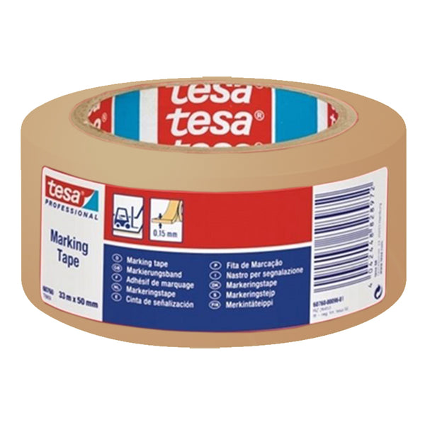 Tesa 60760 High-performance soft PVC aisle marking tape - Clear