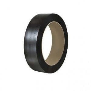 "Black Polyester Strapping - 1/2"" x .028"" x 3250"