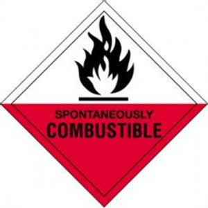 "4"" x 4"" - Spontaneously Combustible Labels"