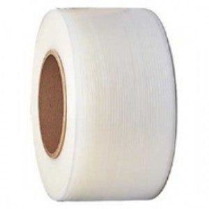 "Clear Embossed Polypropylene Strapping - 3/8"" x 12900 8x8"