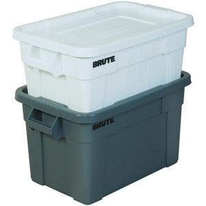 Brute Tote with Lid 14 Gal. White