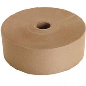 3 in. X 600 ft Convoy Med Duty Natural Non-Reinforced Gummed Paper Tape - Water Activated Tape The Packaging Group