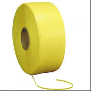"Yellow Embossed Polypropylene Strap - 1/2"" x 7200 16x6"