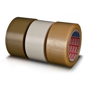 "2"" x 72 yards Tesa 4124 Clear PVC 2.4 Mil Tape 36rl per case - PVC Tape The Packaging Group"