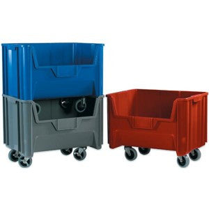 19 7/8 x 15 1/4 x 12 7/16 Mobile Red Bin