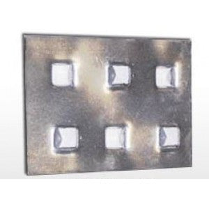 "3-3/8"" x 5"" x .055"" IPS Anti-Skid Plate 200 per case - Anchor Plates & Anti-Skid Plates The Packaging Group"