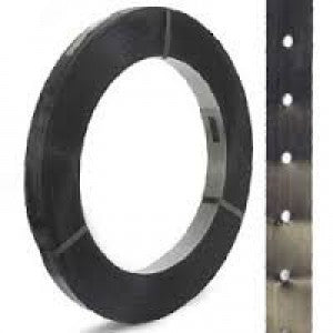 "In-Line Punched High Tensile Steel Strap - 1-1/4"" x .031 IPS"