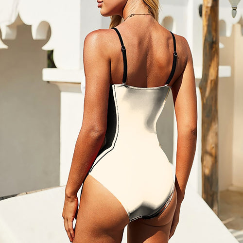 One-piece Waist Cutout Swimsuit with Cutout Design