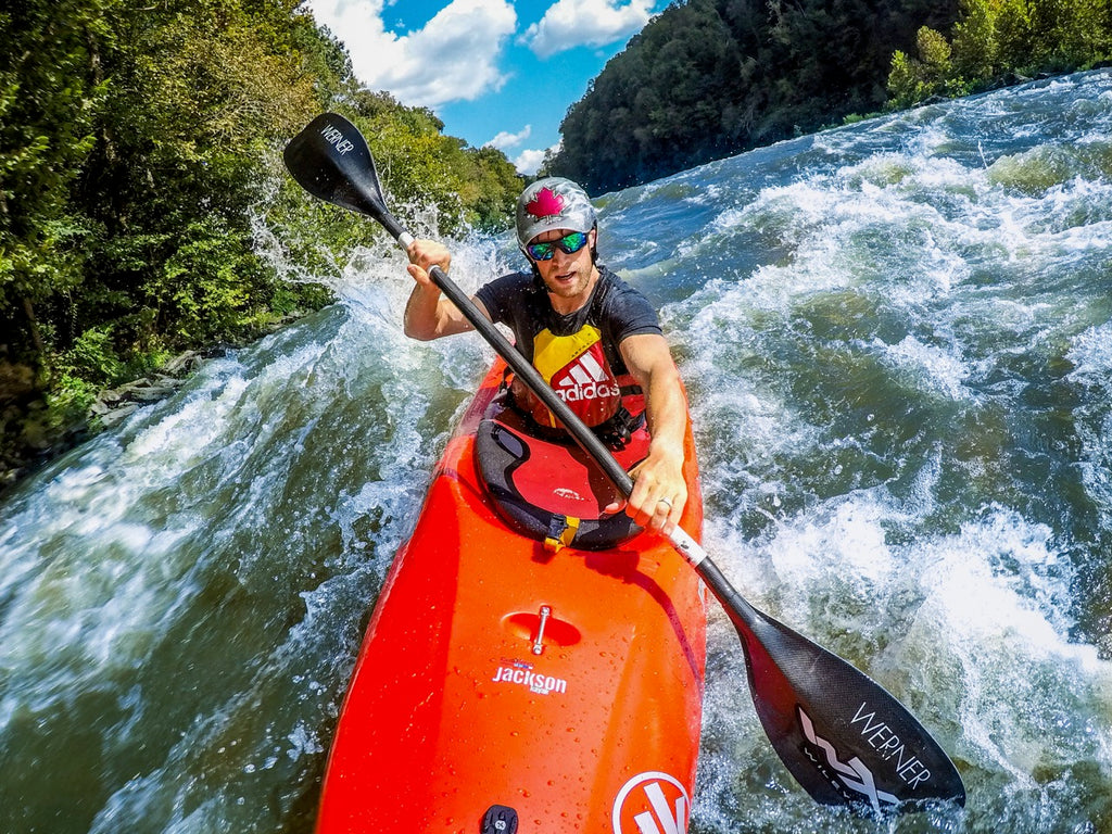 Nick Troutman paddling