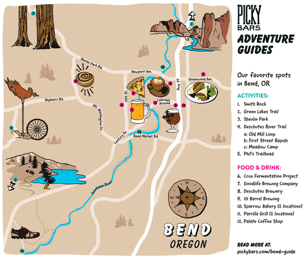 Bend Oregon Adventure Guide Map