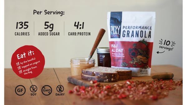 Picky Bars Performance Granola Stats