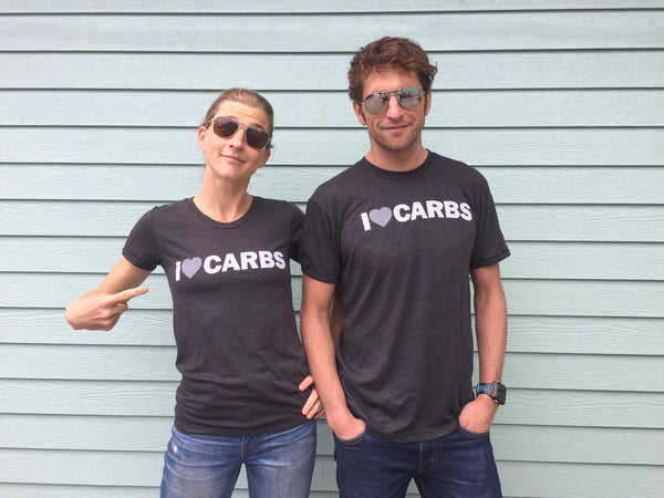 I Love Carbs t-shirt Lauren and Jesse