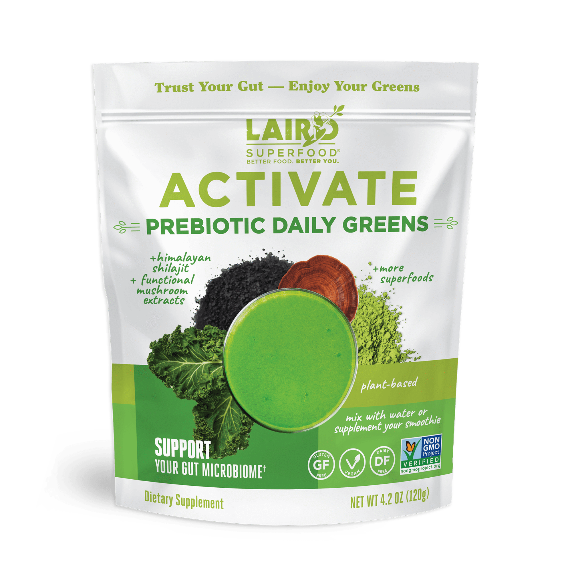 Laird Superfood 4 oz Activate Prebiotic Greens (Club Add-On!)