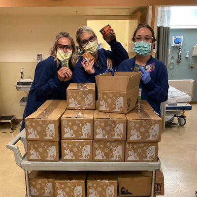 50 Front Line Support Bundles delivered to our local hospital workers at St Charles in Bend, Oregon