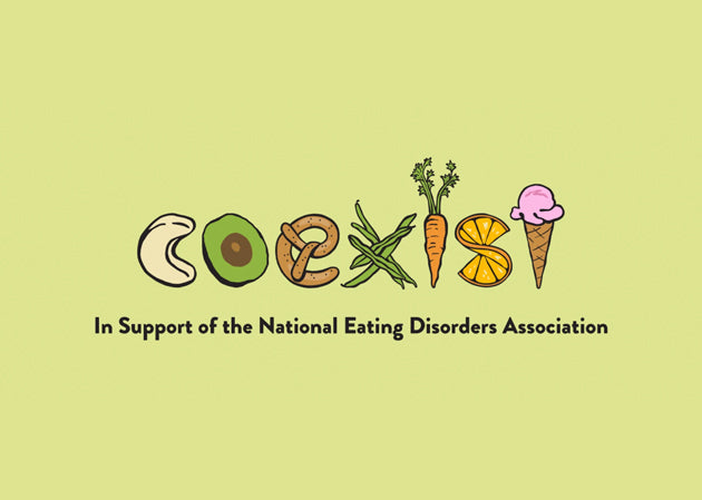 Coexist Logo. In support of the National Eating Disorders Association