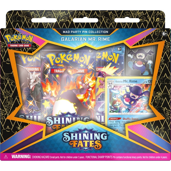 Pokemon TCG: Shining Fates Mad Party Pin Collection -Galarian Mr. Rime