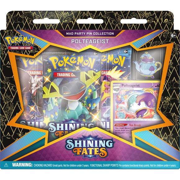 Pokemon TCG: Shining Fates Mad Party Pin Collection -Polteageist