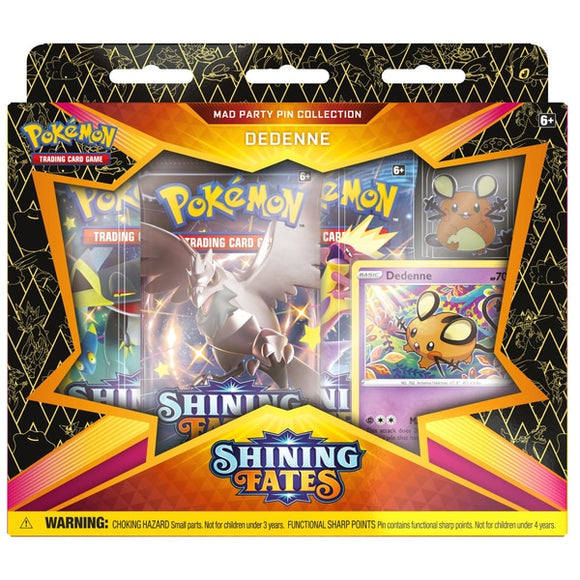 Pokemon TCG: Shining Fates Mad Party Pin Collection - Dedenne