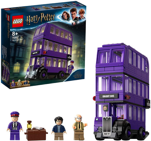 LEGO 75957 Harry Potter Knight Bus Toy, Triple-decker Collectible Set with Minifigures