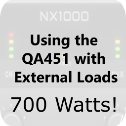 Using the QA451 with External Loads