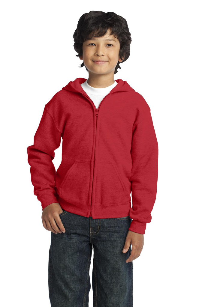 Gildan¨ Youth Heavy Blendª Full-Zip Hooded Sweatshirt. 18600B