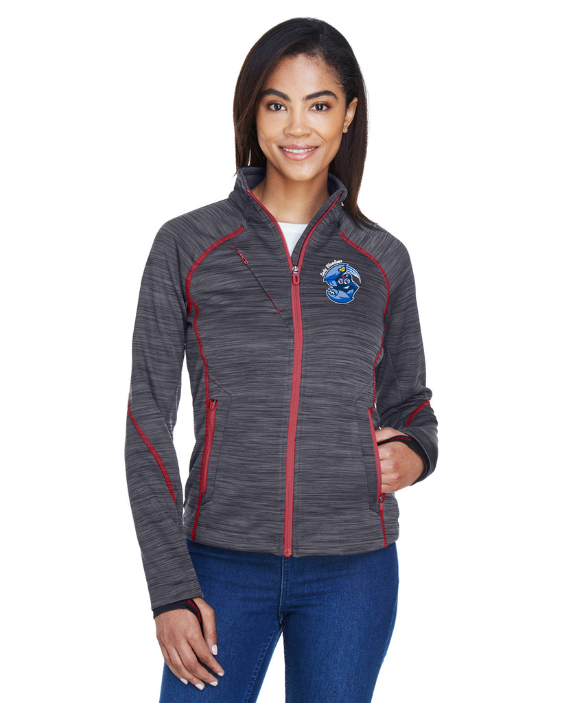 BLUECLAWS SOFTBALL- LADIES FLUX MELANGE BONDED FLEECE JACKET