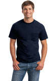 Gildan® - DryBlend® 50 Cotton/50 Poly Pocket T-Shirt. 8300