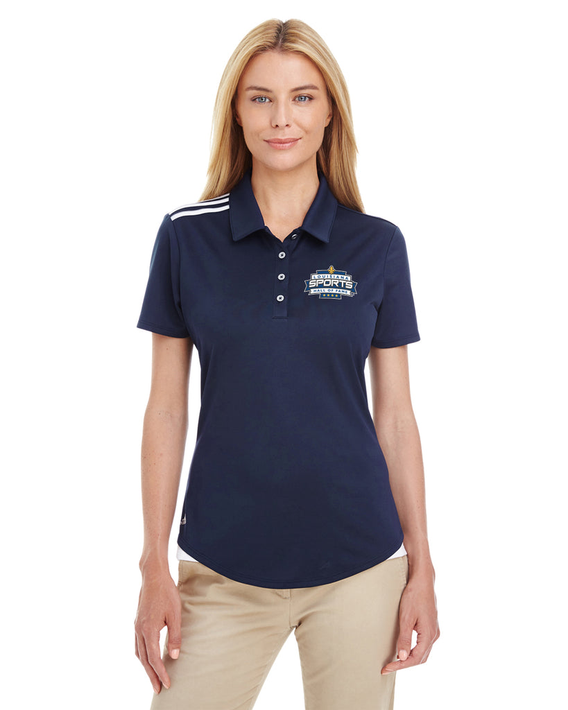 LSHOF - Adidas Golf Ladies' 3-Stripes Shoulder Polo (NAVY)