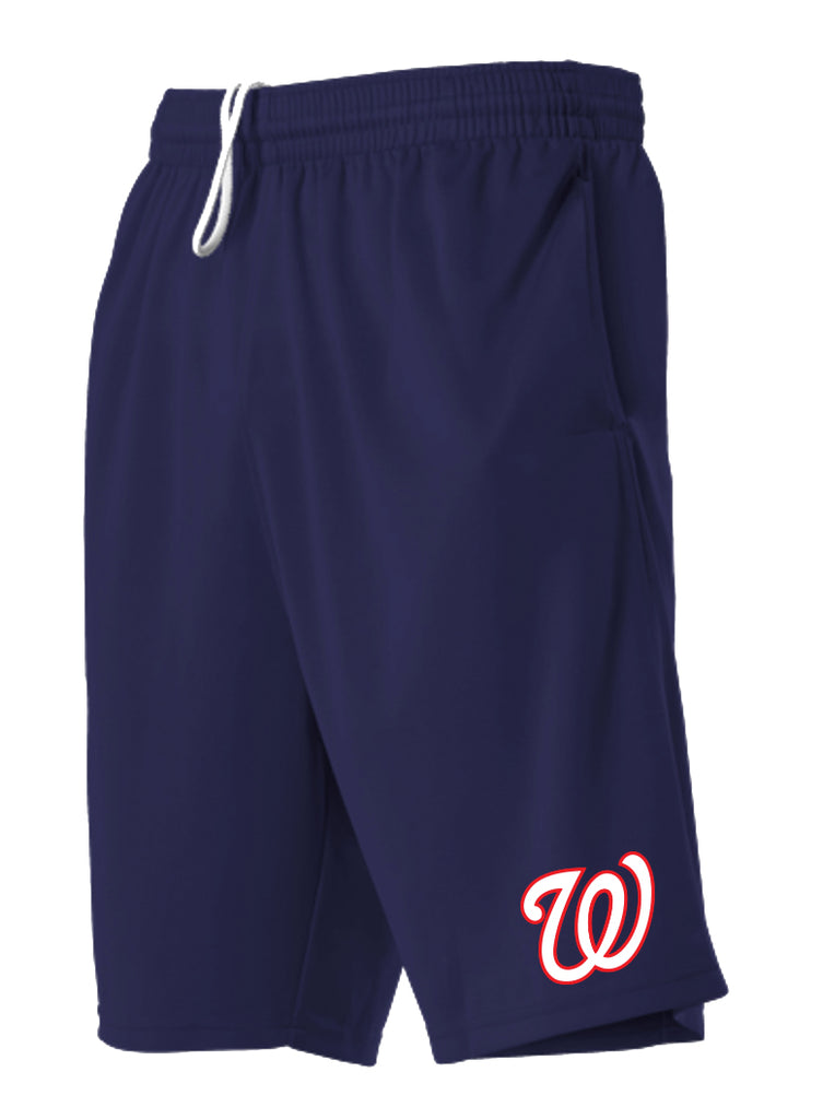 WALK ONS BASEBALL - ADULT TECH UTILITY SHORTS WITH POCKETS