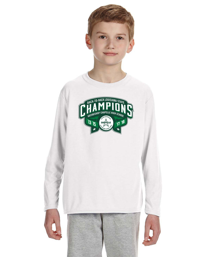 Chapelle High School- Youth Long Sleeve Performance® Youth 5 oz. T-Shirt