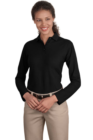 Port Authority® Ladies Long Sleeve Silk Touch™ Polo.  L500LS
