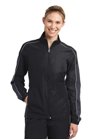 Sport-Tek® Ladies Piped Colorblock Wind Jacket. LST61